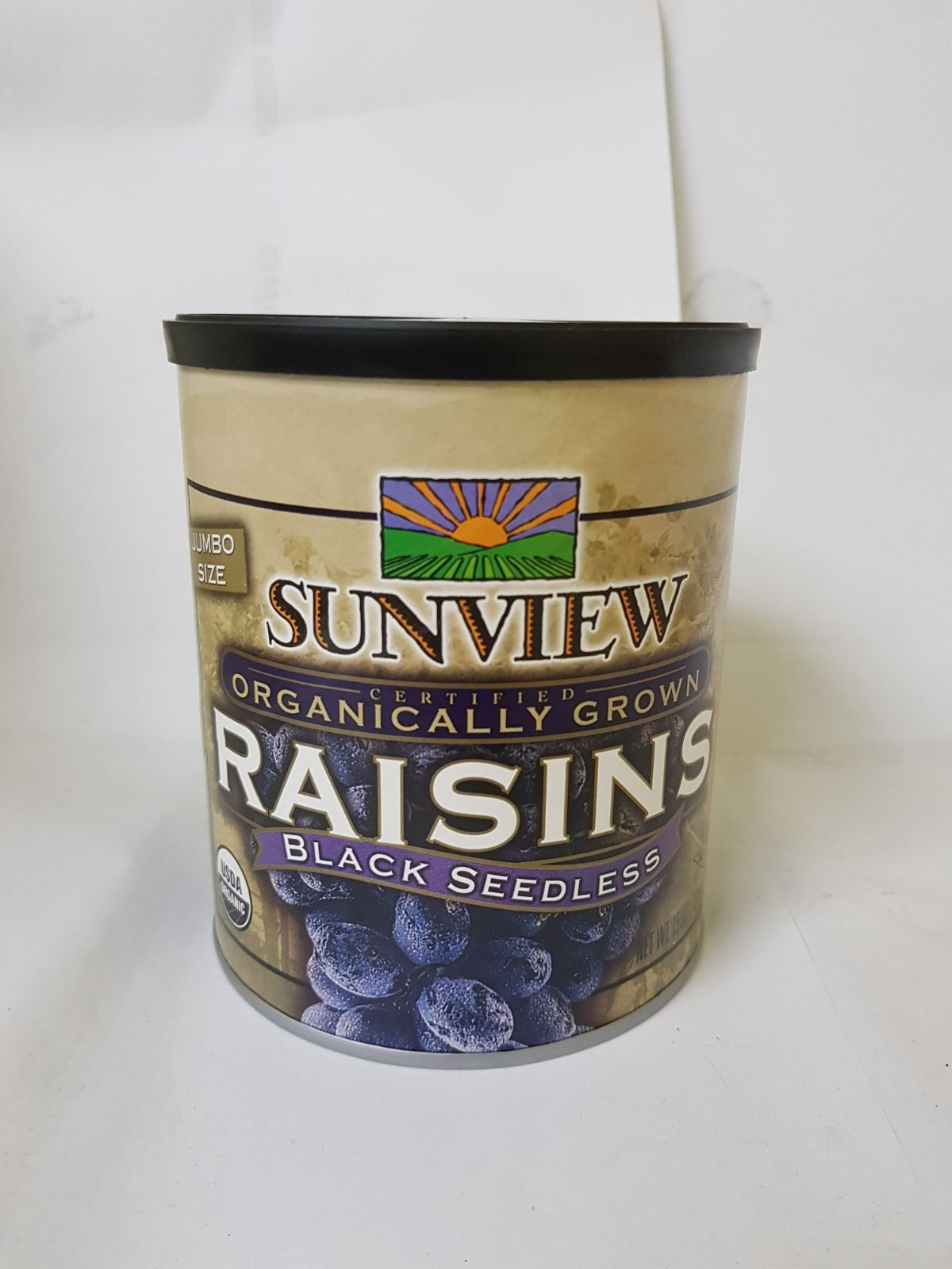 Organic Black Seedless Raisins Jumbo Size