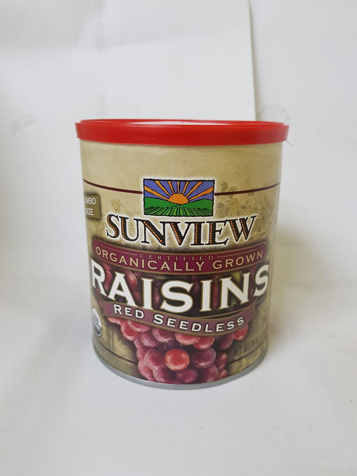 Organic Red Seedless Raisins Jumbo Size